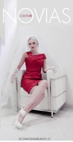 abiti cerimonia,abito sposa rosso corto,