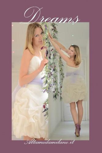 abiti da sposa 2013,abiti da sposa corti,lilla,spose,altamodamilano.it,montenapoleone