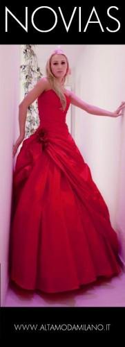 abiti da sposa rosso